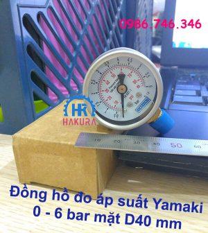 Đồng hồ đo áp suất Yamaki 0 - 6 bar mặt D40 mm