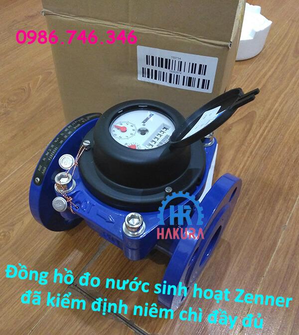 Đồng hồ đo nước sinh hoạt Zenner đã kiểm định niêm chì đầy đủ