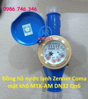 Đồng hồ nước lạnh Zenner Coma mặt khô MTK-AM DN32 Qn6