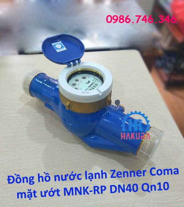 Đồng hồ nước lạnh Zenner Coma mặt ướt MNK-RP DN40 Qn10