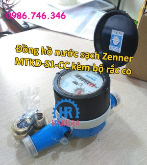 Đồng hồ nước sạch zenner MTKD-S1-CC kèm bộ rắc co