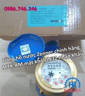 Đồng hồ nước Zenner chính hãng MTK-AM mặt khô DN32 nhập khẩu