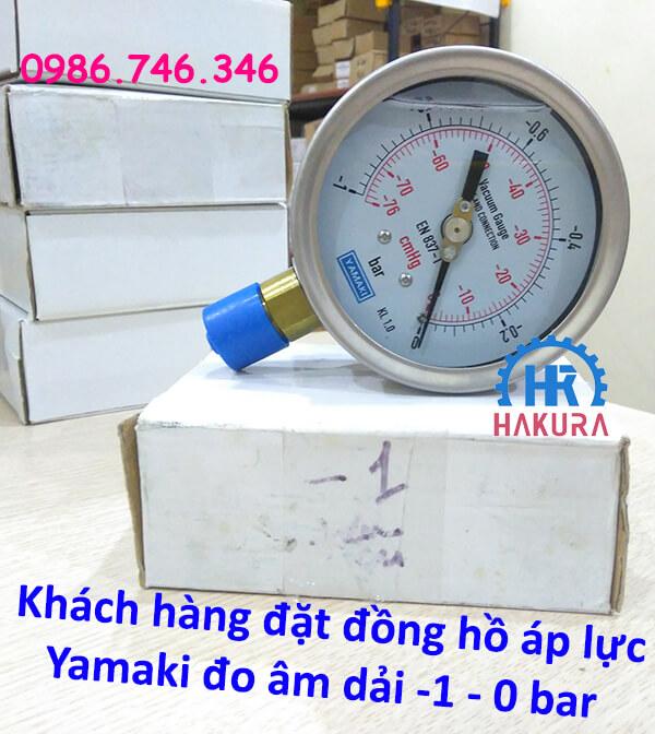 Khách hàng đặt đồng hồ áp lực Yamaki đo dải âm -1 – 0 bar