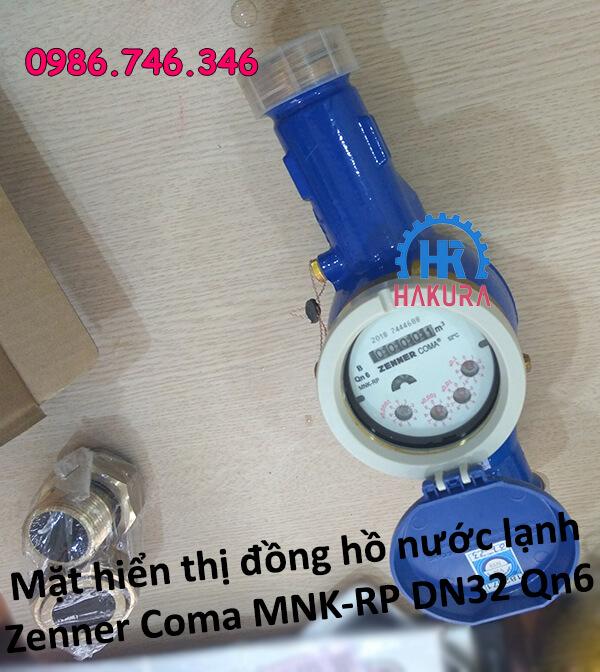 Mặt hiển thị đồng hồ nước lạnh Zenner Coma MNK-RP DN32 Qn6