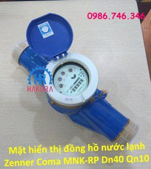 Mặt hiển thị đồng hồ nước lạnh Zenner Coma MNK-RP DN40 Qn10