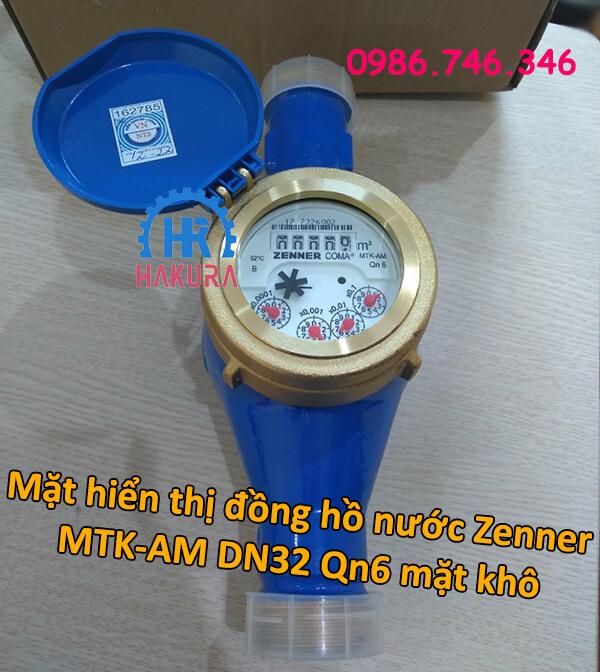 Mặt hiển thị đồng hồ nước Zenner MTK-AM DN32 Qn6 mặt khô