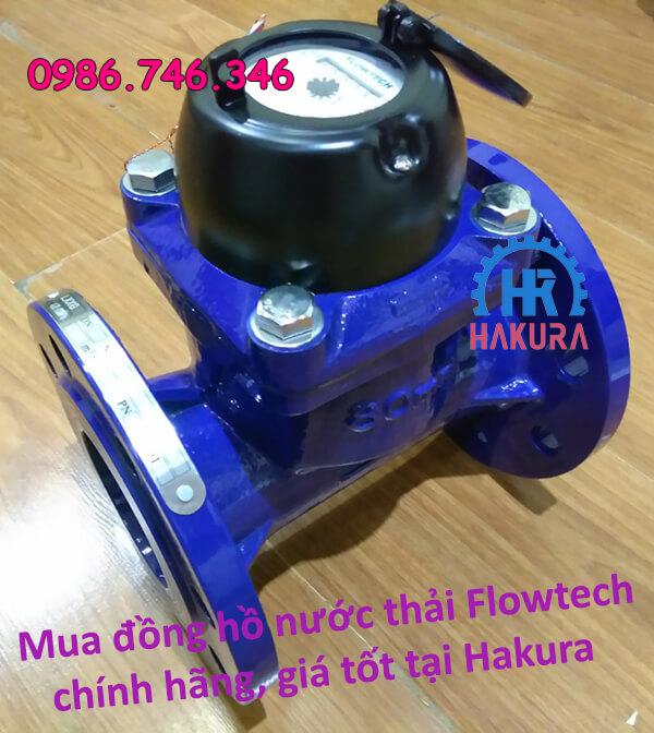 Mua đồng hồ nước thải Flowtech chính hãng giá tốt tại Hakura