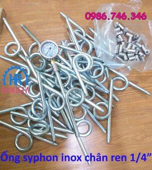Ống Siphon inox chân ren 1/4 inch