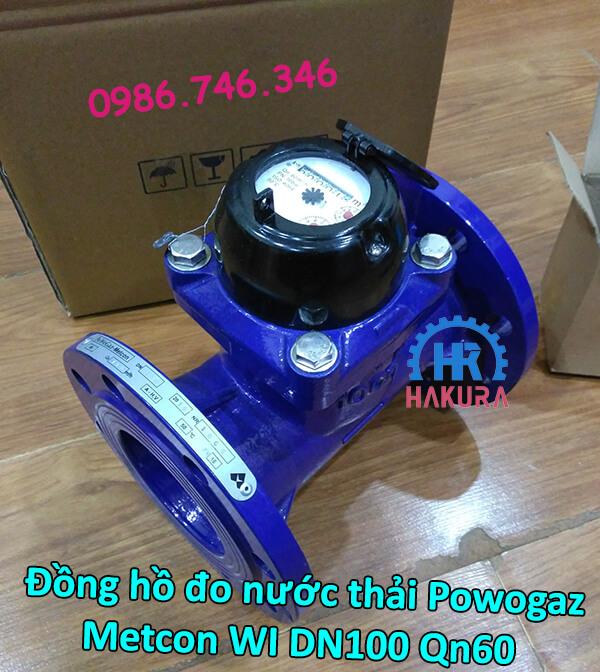 Đồng hồ đo nước thải Powogaz-Metcon WI DN100 Qn60