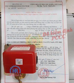 Giấy chứng nhận kiểm định PCCC công tắc dòng chảy WFS-1025I