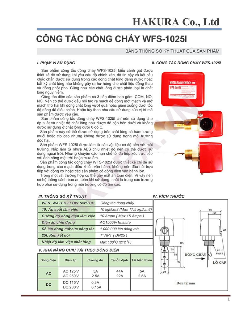 Catalogue WFS-1025I Việt Nam đã được kiểm định PCCC